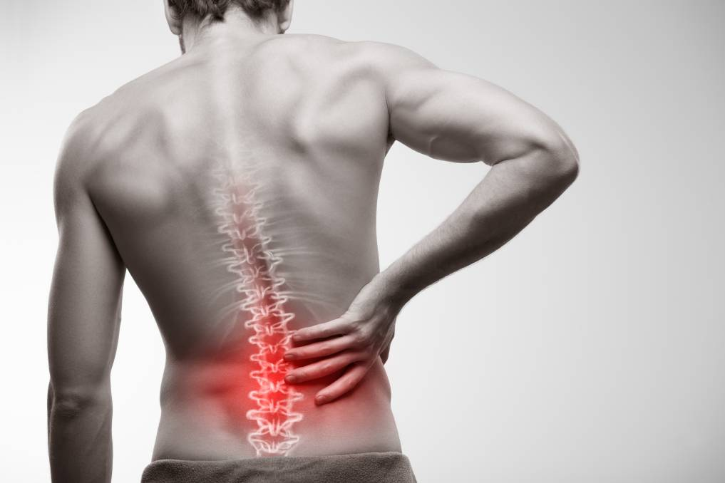 Man experience back pain